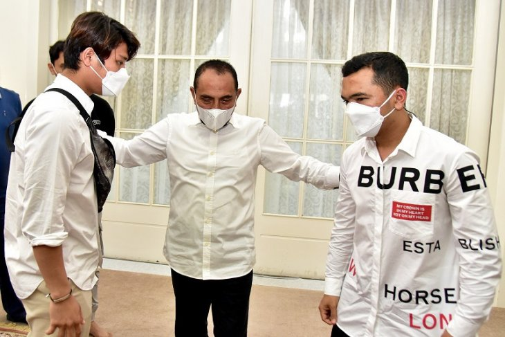 Gubernur Sumut sambut niat Rizky Billar dan Putra Siregar majukan PSMS