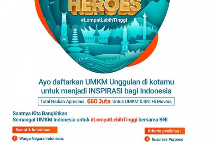 BNI gelar UMKM  Heroes untuk peningkatan promosi produk lokal