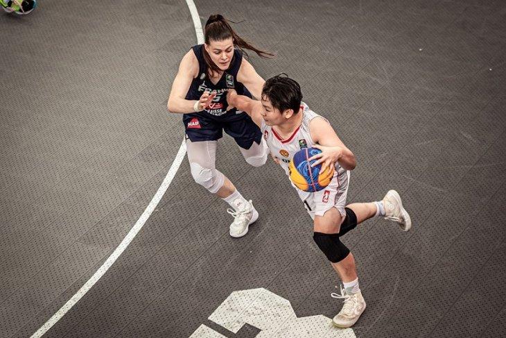 Perjuangan keras Timnas basket 3x3 putri Indonesia belum cukup hentikan Prancis
