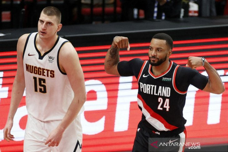NBA, Blazers rebut gim keempat, imbangi Nuggets 2-2
