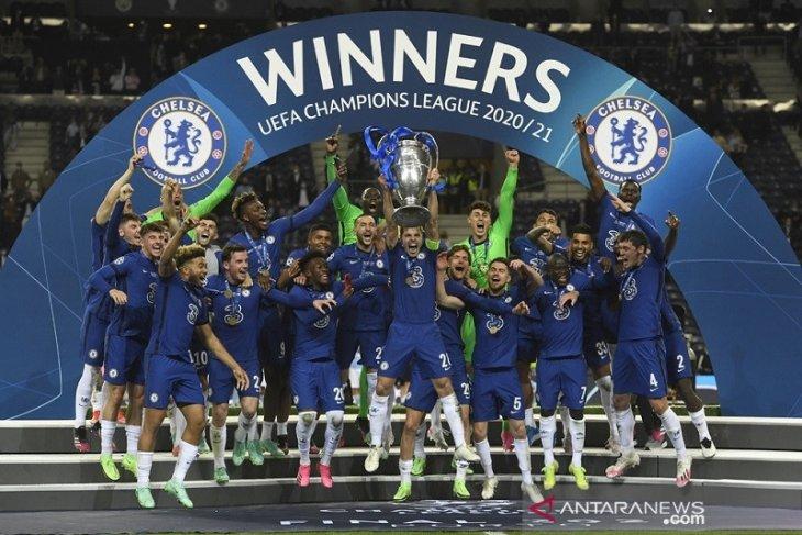 Daftar juara Liga Champions: Chelsea kini koleksi dua trofi