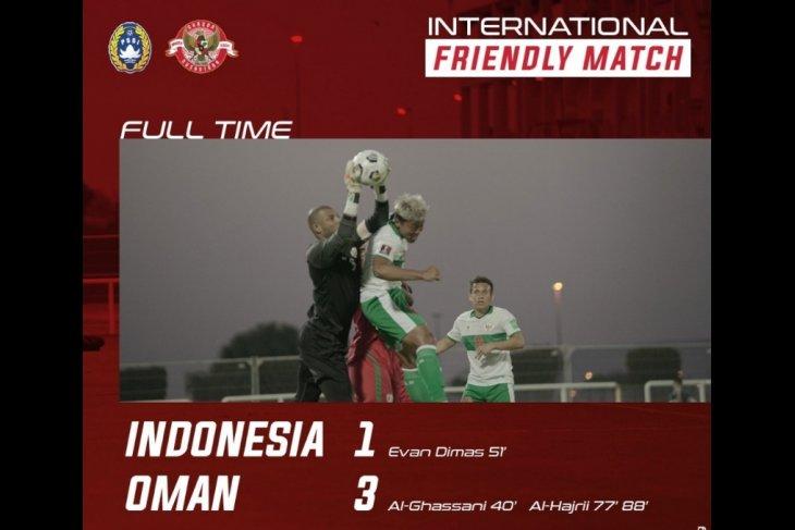 Timnas Indonesia kalah 1-3 dari Oman