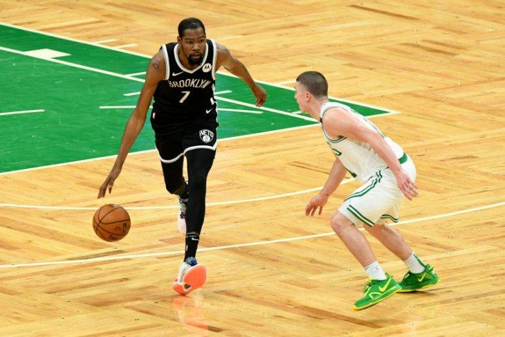 Durant cetak 42 poin dan bawa Nets unggul 3-1 atas Celtics