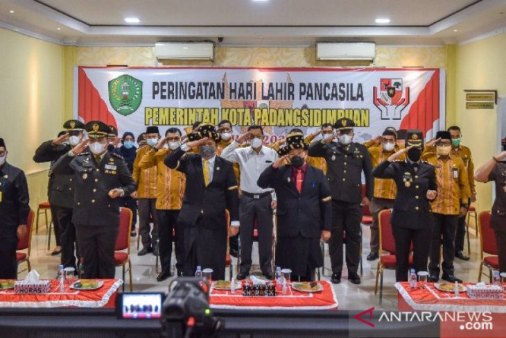 Wali Kota Padangsidimpuan ikuti upacara Hari Lahir Pancasila secara virtual