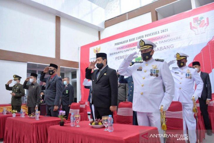 Wali kota Sabang ikut peringatan hari Pancasila dengan Presiden Jokowi secara virtual