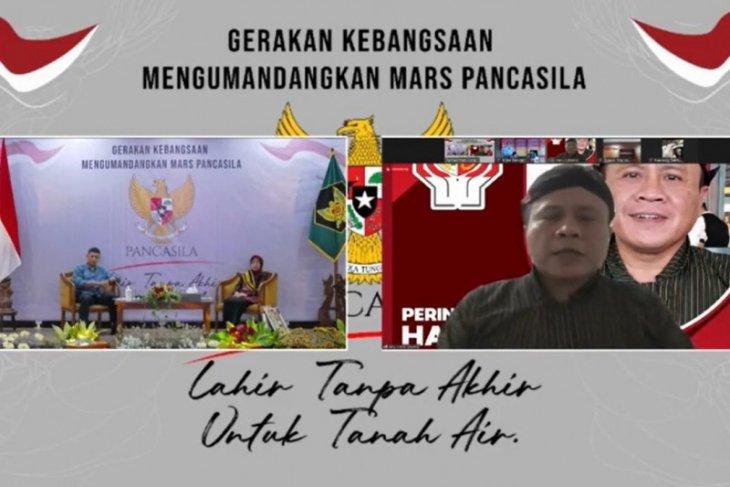 BPIP apresiasi gerakan kebangsaan kumandangkan Mars Pancasila di Kota Kediri