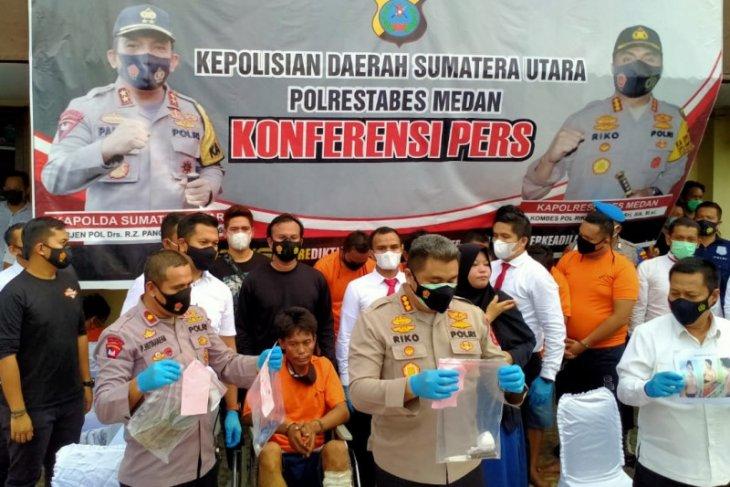 Polisi ringkus 7 pelaku begal sadis di lampu merah Kota Medan