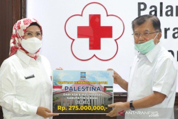 Donasi ASN Pemkab Serang untuk Palestina diserahkan via PMI