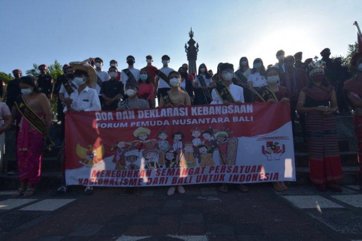 Puluhan pemuda Bali gelorakan semangat nasionalisme cegah radikalisme