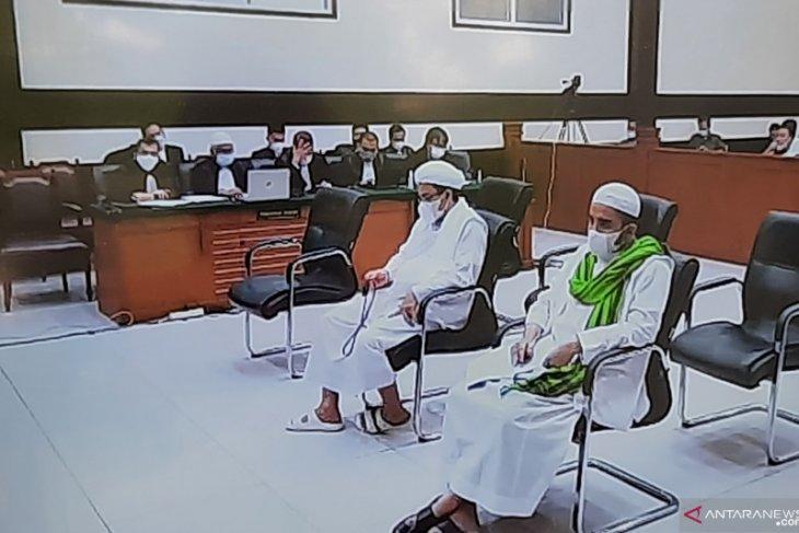 Terdakwa Rizieq Shihab jalani sidang pembacaan replik JPU
