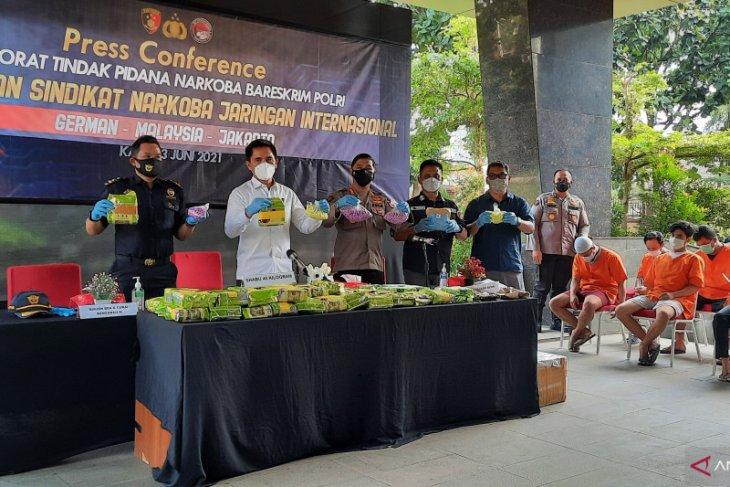 Penyelundupan 45 kg sabu asal Malaysia digagalkan Polri