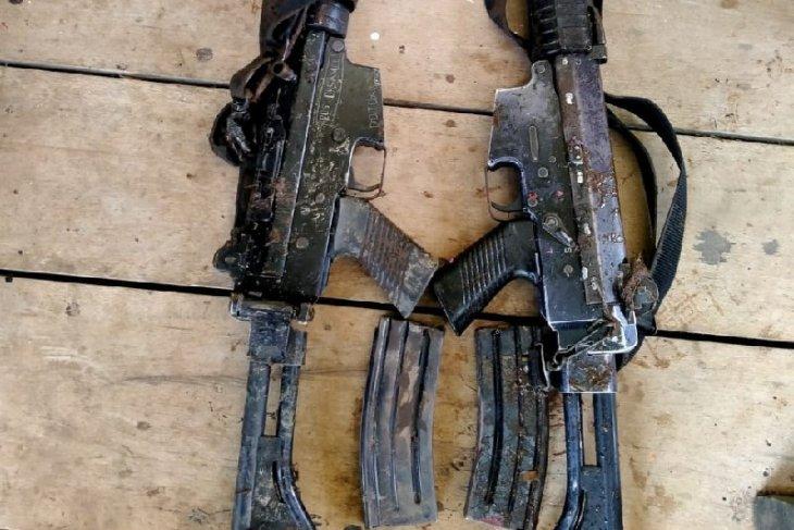Dua senpi SS1 milik Polri ditemukan di perbatasan RI-PNG