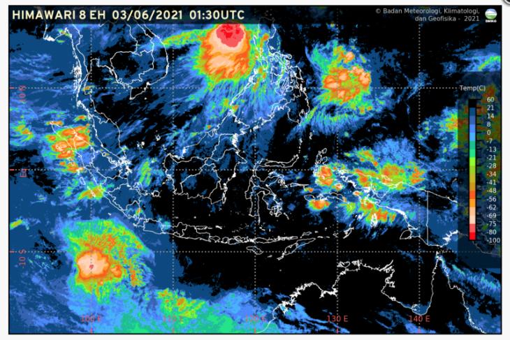 Sebagian besar wilayah Indonesia diprakirakan cerah berawan, termasuk Jambi