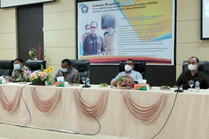 Bappeda cari masukan perubahan RPJMD Aceh Selatan