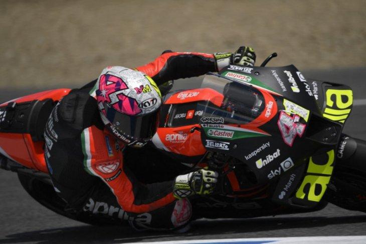 MotoGP: Espargaro bawa Aprilia tercepat dalam sesi latihan pertama Catalunya