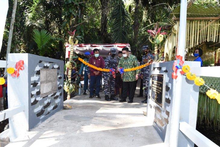 TNI AL bangun jembatan di perbatasan Buleleng-Bangli