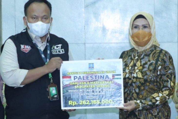Pemkab Serang salurkan donasi untuk Palestina Rp537,16 Juta