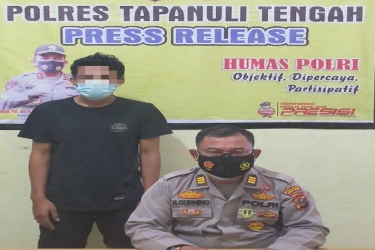 Polres Tapteng amankan terduga pelaku pembakaran mobil anggota DPRD Tapteng