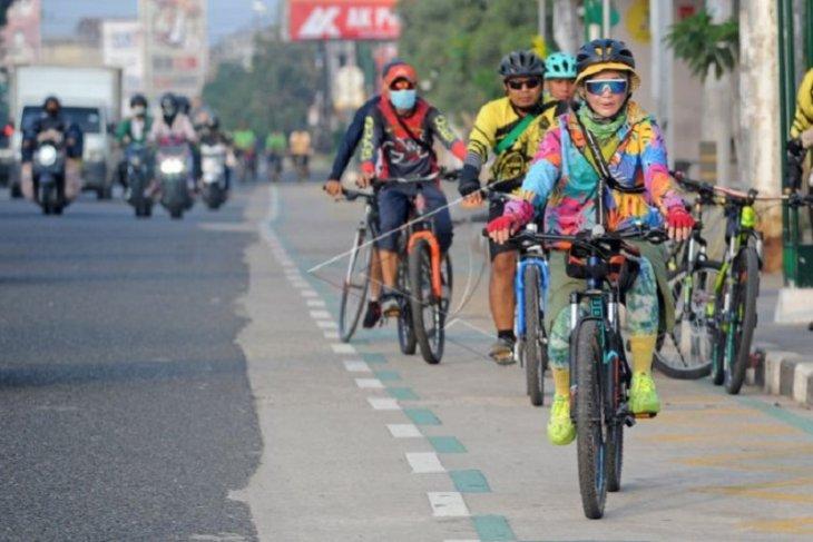 Jalur khusus sepeda di Jambi
