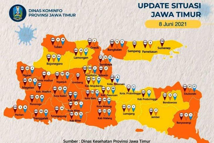 Kasus COVID-19 melonjak, Bangkalan masuk zona oranye