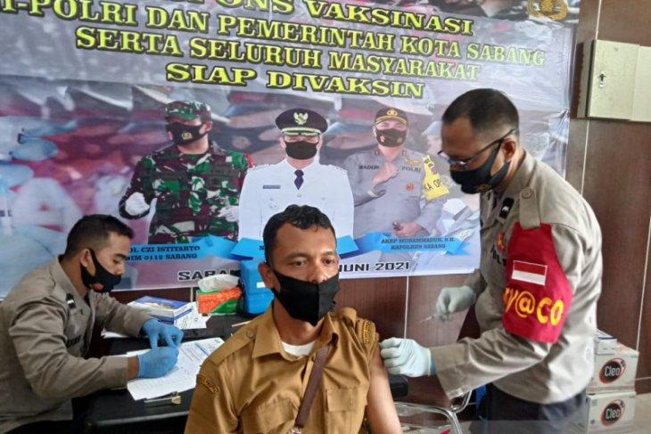 Polres Sabang gelar vaksinasi massal