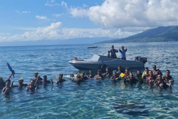 Lanal Ternate gelar latihan dasar selam di perairan Malut