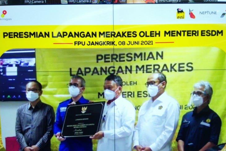 Minister Tasrif inaugurates Merakes gas project in East Kalimantan
