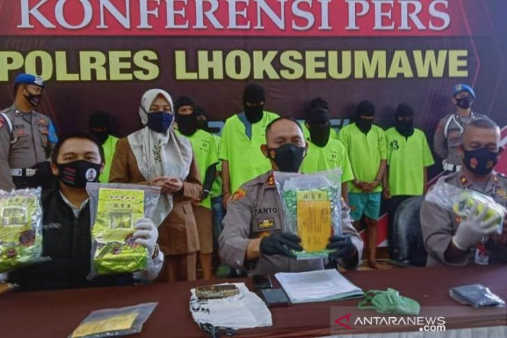 Polisi gagalkan peredaran 4,4 kilogram narkoba di Lhokseumawe