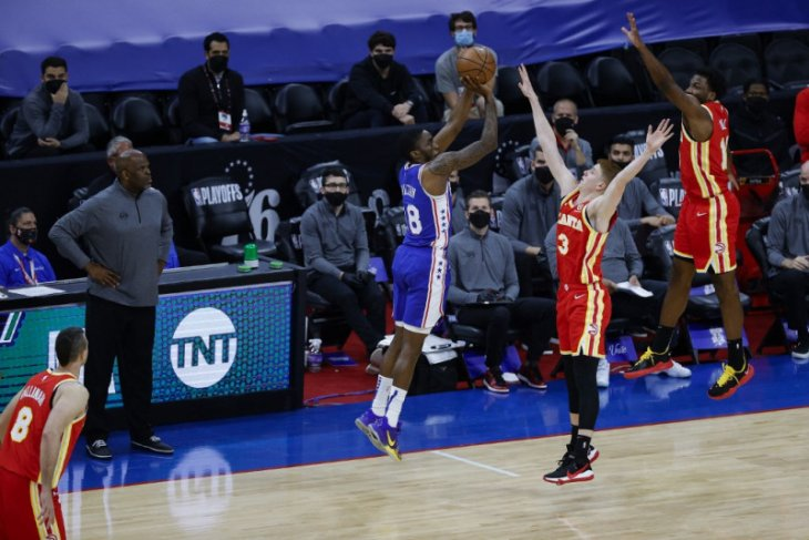 Playoff NBA, 40 poin Embiid bantu Sixers samakan kedudukan 1-1 lawan Hawks