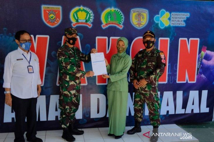 Keluarga besar TNI divaksin Astra Zeneca