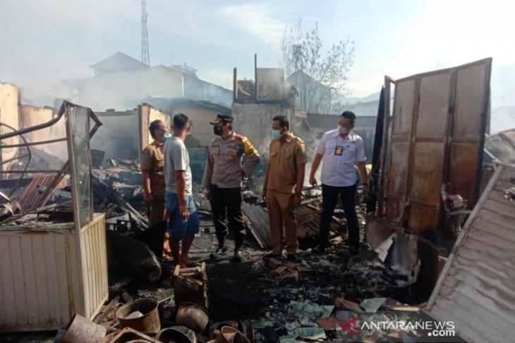 BPBD data kerugian kebakaran Pasar Muara Aman