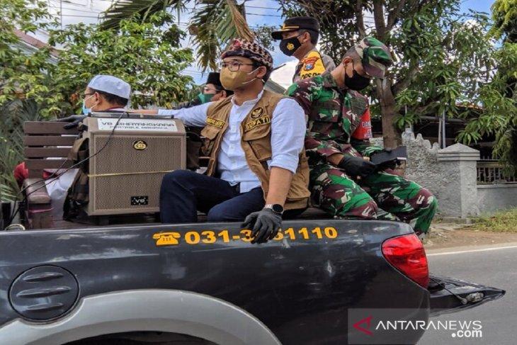 Bupati Bangkalan siaran keliling imbau warga terapkan protokol kesehatan
