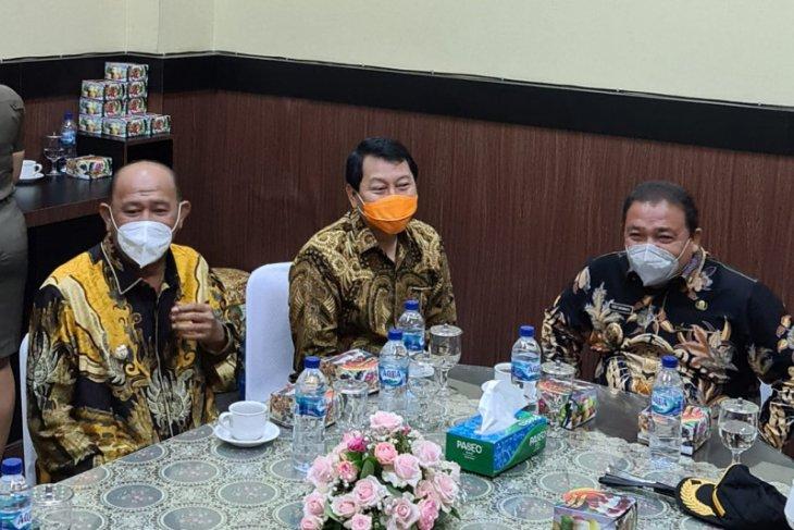 Bupati Langkat hadiri rakor monitoring dan evaluasi pencegahan korupsi KPK
