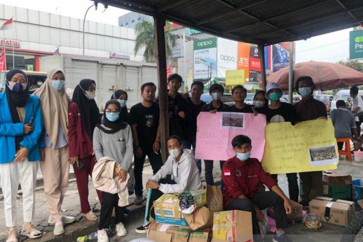 Mahasiswa Jambi galang dana bantu  korban kebakaran