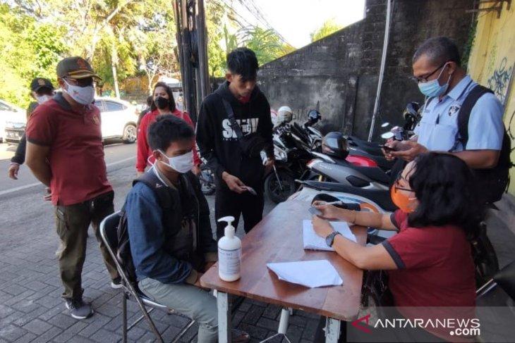 Tim Yustisi Denpasar jaring 40 pelanggar prokes