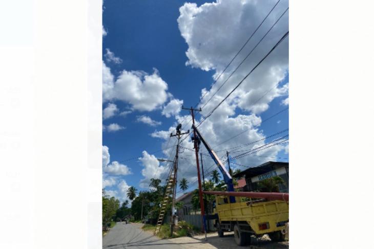 PLN UP3 Pontianak lakukan perawatan jaringan listrik