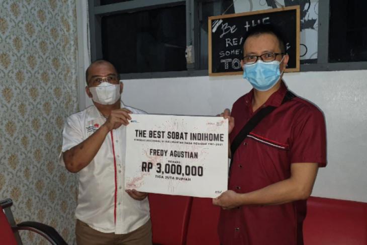 Satu agent digital produk Telkom terima reward best SOBI se Kalimantan