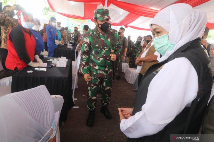 Panglima TNI - Kapolri gelar rapat penanganan COVID-19 di Kediri
