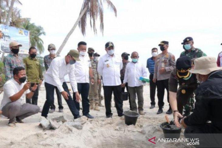 Babel bangun talud cegah abrasi di destinasi wisata Pantai Pesaren