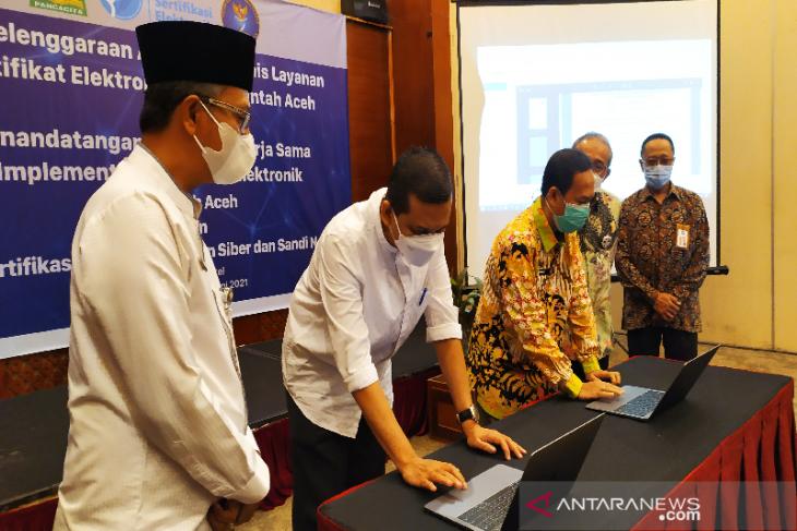 Pemerintah Aceh teken kerjasama sertifikat elektronik dengan BSSN