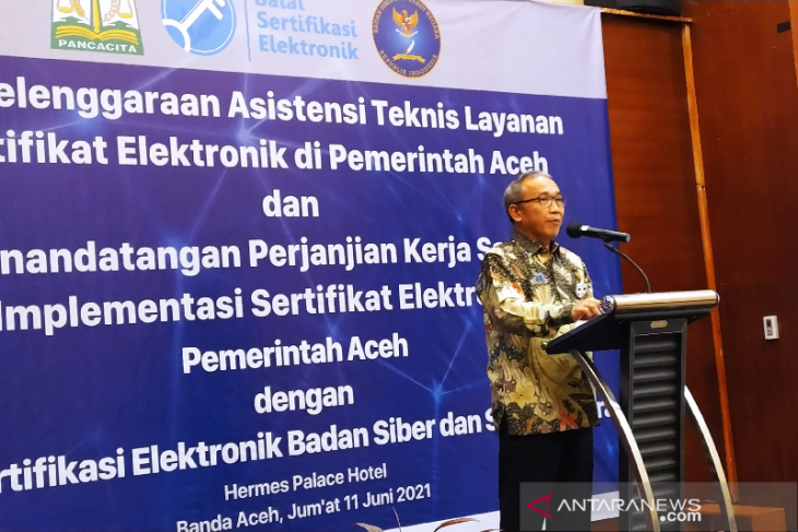 BSSN sudah jalin kerjasama sertifikat elektronik dengan 318 instansi di Indonesia