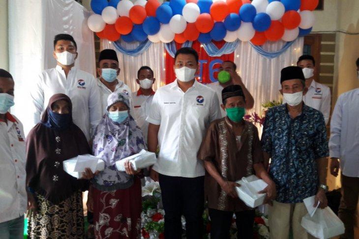 HUT keenam Partai Perindo Langkat santuni puluhan anak yatim dan lansia
