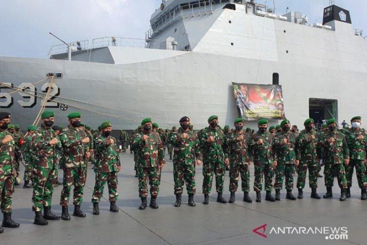 400 prajurit TNI dari Yonif 315/Garuda amankan Papua selama 9 bulan