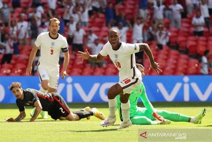 Euro 2020, Raheem Sterling antar Inggris revans kecil atas Kroasia