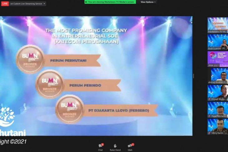 Perhutani raih penghargaan BUMN Marketeers Award 2021
