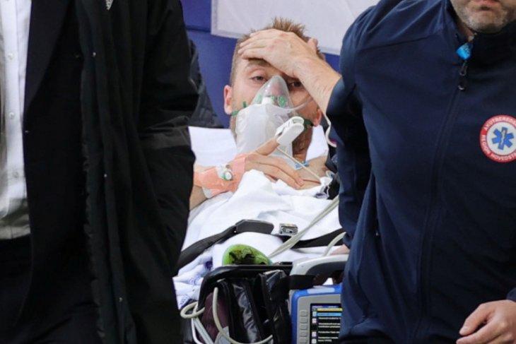 Christian Eriksen masih di rumah sakit, kondisinya stabil