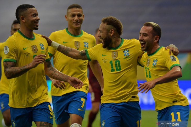 Brazil kalahkan Venezuela 3-0 di laga pembukaan Copa America 2021