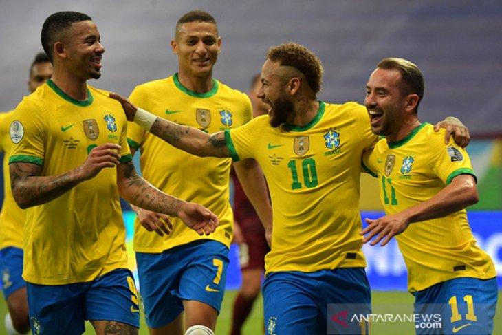 Brazil menang 3-0 atas Venezuela di laga pembukaan Copa America 2021