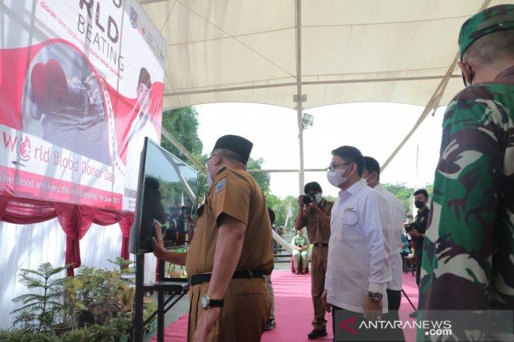 Peringatan Hari donor darah sedunia, PMI HSS launching aplikasi