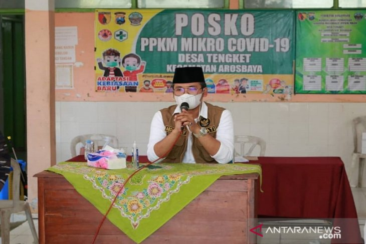 Lonjakan COVID-19, Bupati Bangkalan minta kades proaktif ajak warga tes cepat massal
